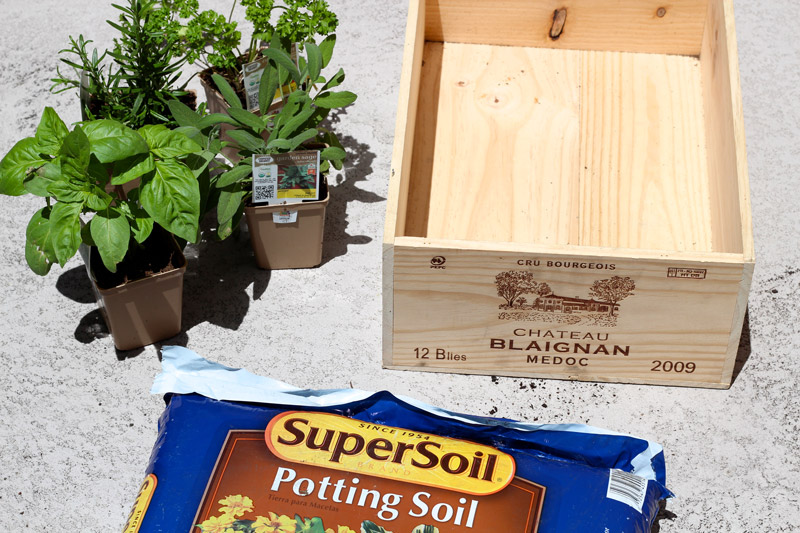 wine crate herb