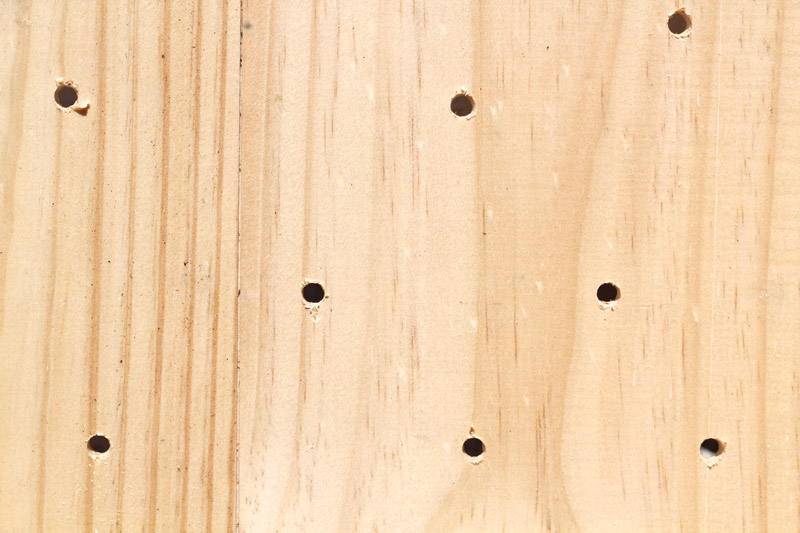wine crate herb Drill Holes
