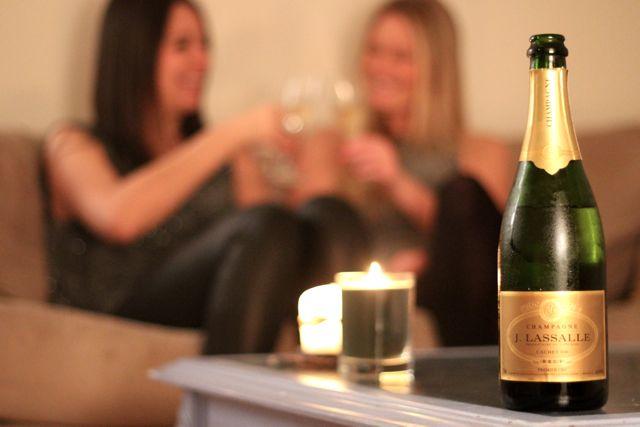 New Year's Eve 1 bubbly wine