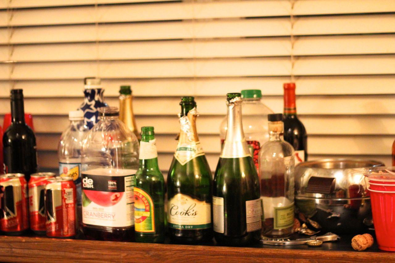 New Year's Eve bubbly wine